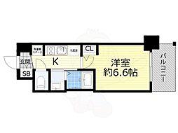 Osaka Metro御堂筋線 西中島南方駅 徒歩10分の賃貸マンション 11階1Kの間取り