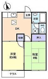 ファミーユ江原台[1階]の間取り