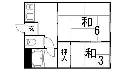 兵庫県神戸市長田区萩乃町2丁目の賃貸アパートの間取り