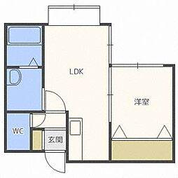 パークハイツOM2-2[1階]の間取り