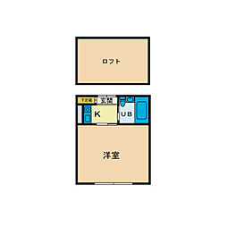 スカイピア本厚木B[1階]の間取り