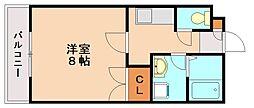 バンベ−ル五条[1階]の間取り
