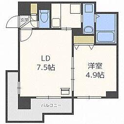 ミルフィ8・7[5階]の間取り