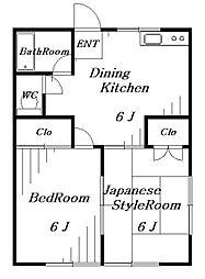末広パークハイツ[1階]の間取り