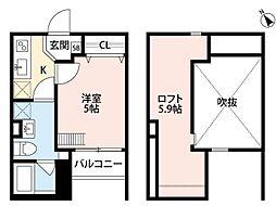 西明石 陽光館(ニシアカシ ヨウコウカン)[1階]の間取り