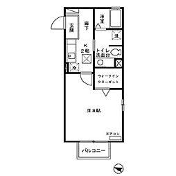 Casa・Virente[206号室号室]の間取り