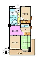 リバーシティ東本郷[3階]の間取り