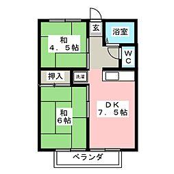シティハイム小関[2階]の間取り