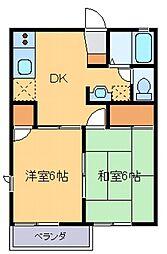 群馬県伊勢崎市三室町の賃貸アパートの間取り