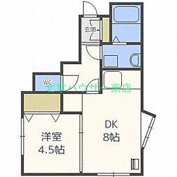 北海道札幌市東区北九条東10丁目の賃貸マンションの間取り