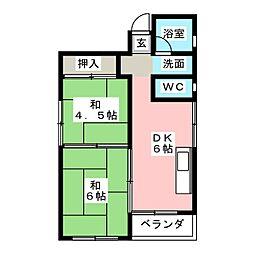 森ビル[5階]の間取り