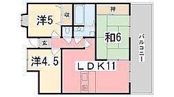 プレステージ姫路西飾磨[803号室]の間取り