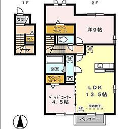 ラヴェニール[2階]の間取り