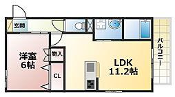 メゾン六甲2[2階]の間取り