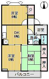 メゾン栄町II[102号室]の間取り