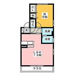 シャルム[1階]の間取り