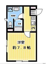FABRIC飯田橋 2階1Kの間取り