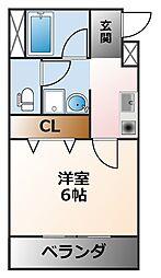 フォルム浦風町[2階]の間取り