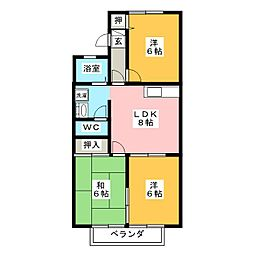 エスポワール江崎[1階]の間取り