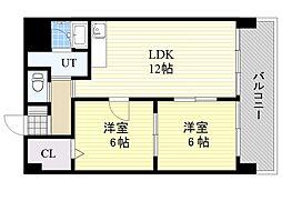 北海道札幌市中央区南8条西1丁目の賃貸マンションの間取り
