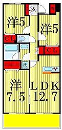 RIK(リィク)西新井[502号室]の間取り