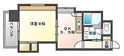 西田ビル[8階]の間取り
