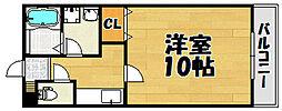 兵庫県川西市南花屋敷1丁目の賃貸アパートの間取り
