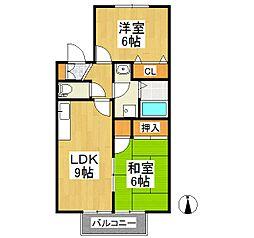 クレール津福II[1階]の間取り