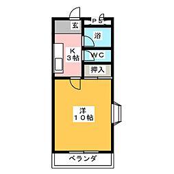 シャトール菅田[3階]の間取り