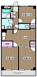 リーゼンハイム[4階]の間取り