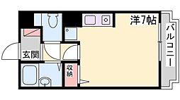 尾上の松ミドリマンション[202号室]の間取り