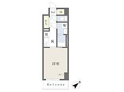 川崎区堀之内町計画 6階1Kの間取り