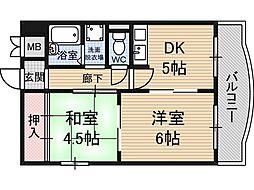 サンキライフ白遥[4階]の間取り