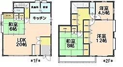 [一戸建] 愛知県日進市岩崎町西ノ平 の賃貸【/】の間取り