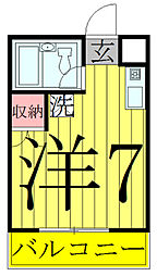 ウインパールマンション[205号室]の間取り