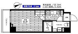 ステージグランデ早稲田[802号室]の間取り