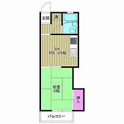 コーポ新井[2階]の間取り