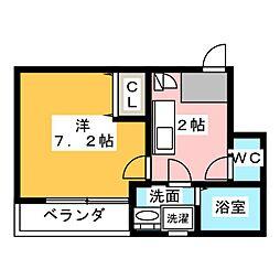 クレフラスト新守山駅前B棟[1階]の間取り