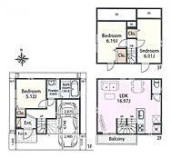 建物参考プラン間取り/3LDK、延床面積/86.63?、建物参考価格/1300万円(税込)