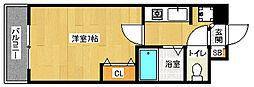 京都府京都市南区八条町の賃貸マンションの間取り