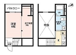 トータス鶴里(トータスツルサト)[2階]の間取り