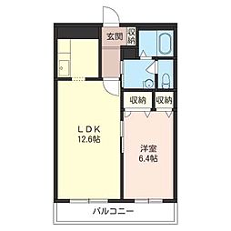 ラディアンス[3階]の間取り