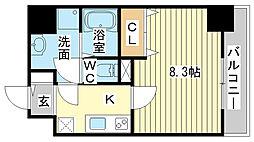 兵庫県姫路市博労町の賃貸マンションの間取り