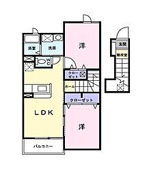 ガーデンハウスT.Y.II[2階]の間取り