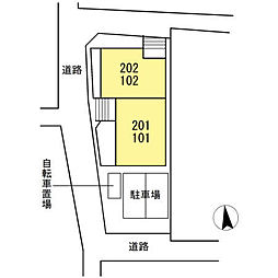 仮)D-room下中村町[101号室]の外観