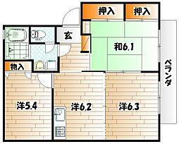 リジェール尾倉II C棟[1階]の間取り
