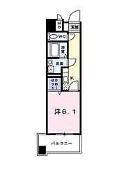 PARK岸和田2[3階]の間取り