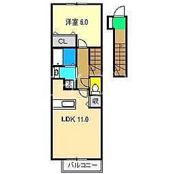 ガーデンハウスやしろII[2階]の間取り