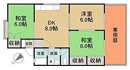 ガーデンハウス田方 A棟[1階]の間取り