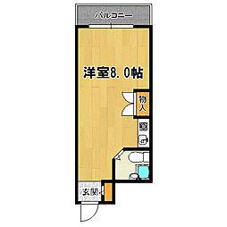 クリア塚本[4階]の間取り